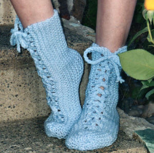 Free Knit Bedsocks Pattern