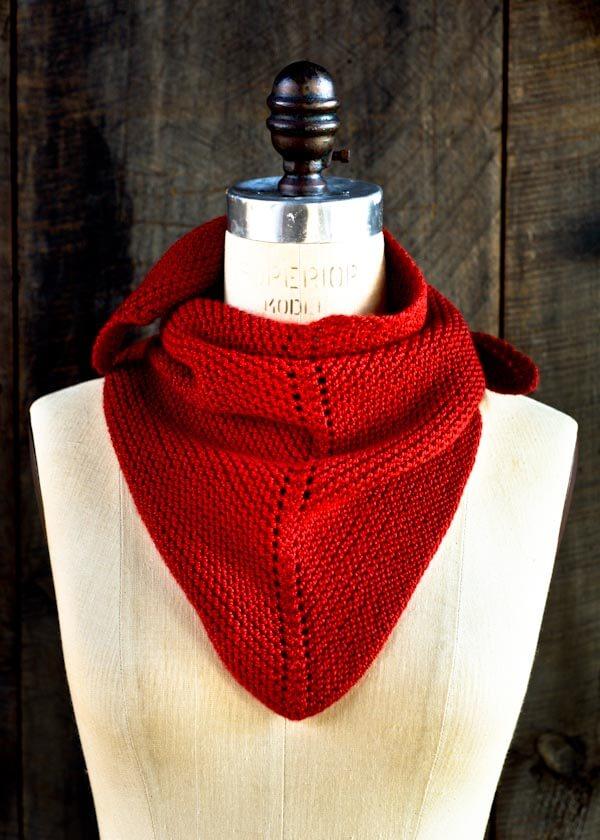 Free Knit Dovetail Scarf Pattern