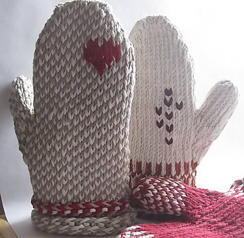 Free Knit Oven Mitts Pattern