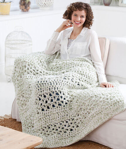 Free Super Quick Crochet Throw