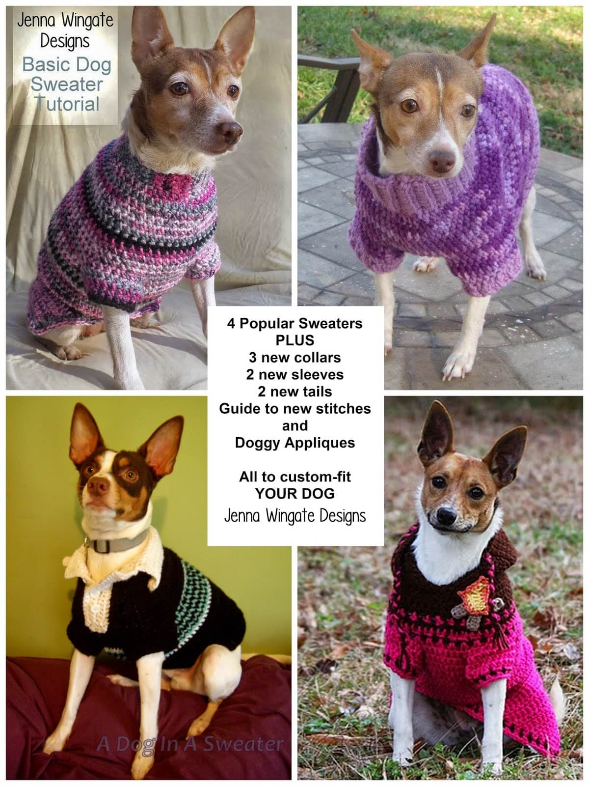 Fre Custom Crochet Dog Sweaters