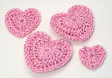Free Crocheted Hearts Pattern