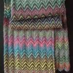 Free Designer inspired knit scarf
