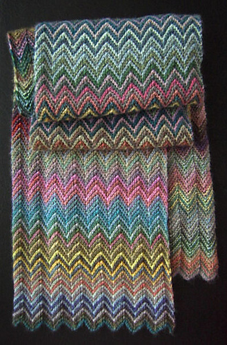 Free Designer inspired knit scarf