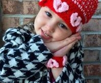 Free crochet heart beanie pattern