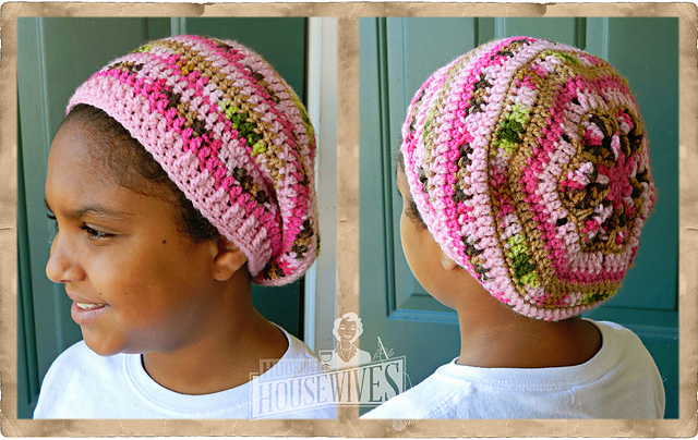 Free African Flower Slouchy Beanie