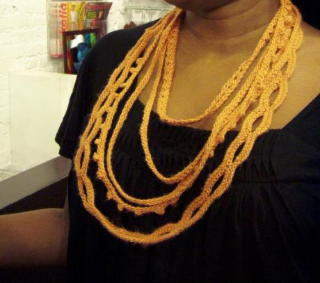 Free Knit Pattern for Indian Gold Silk Jewellery