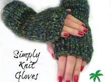 Free Pattern for Simply Knit Fingerless Gloves