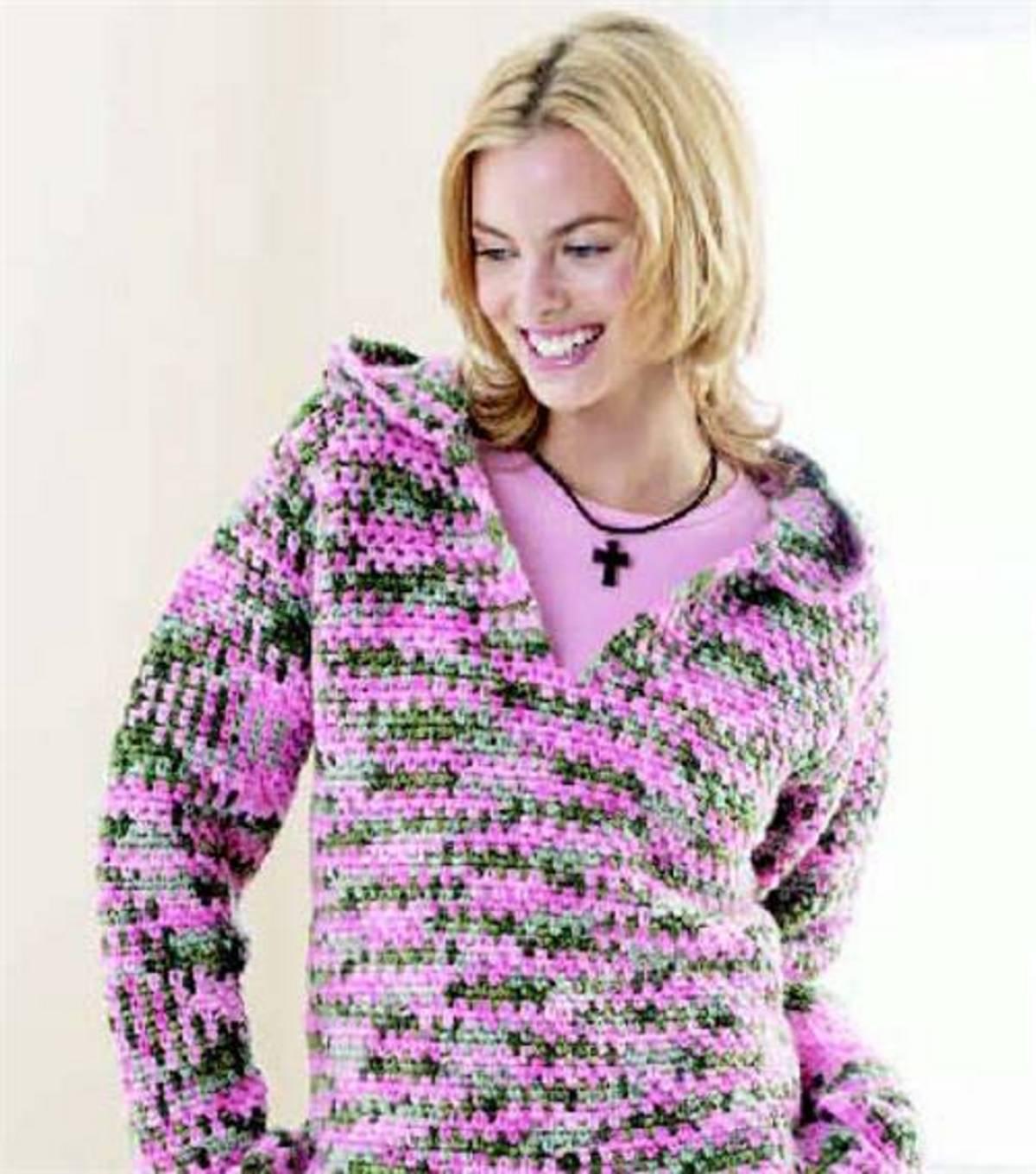 Free crochet hooded sweatshirt pattern