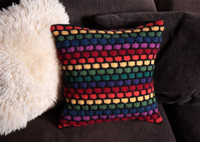 Free Rainbow Stash Buster Cushion