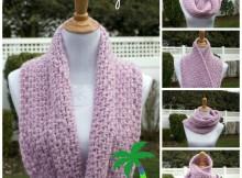 Winter Hug Crochet Infinity Scarf