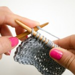 How to Purl without turning work