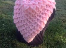 Crochet Crocodile Stitch Shawl