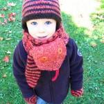 slithering snake knit scarf pattern