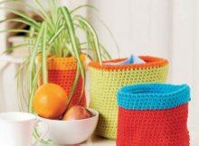Crochet Baskets, Free Pattern