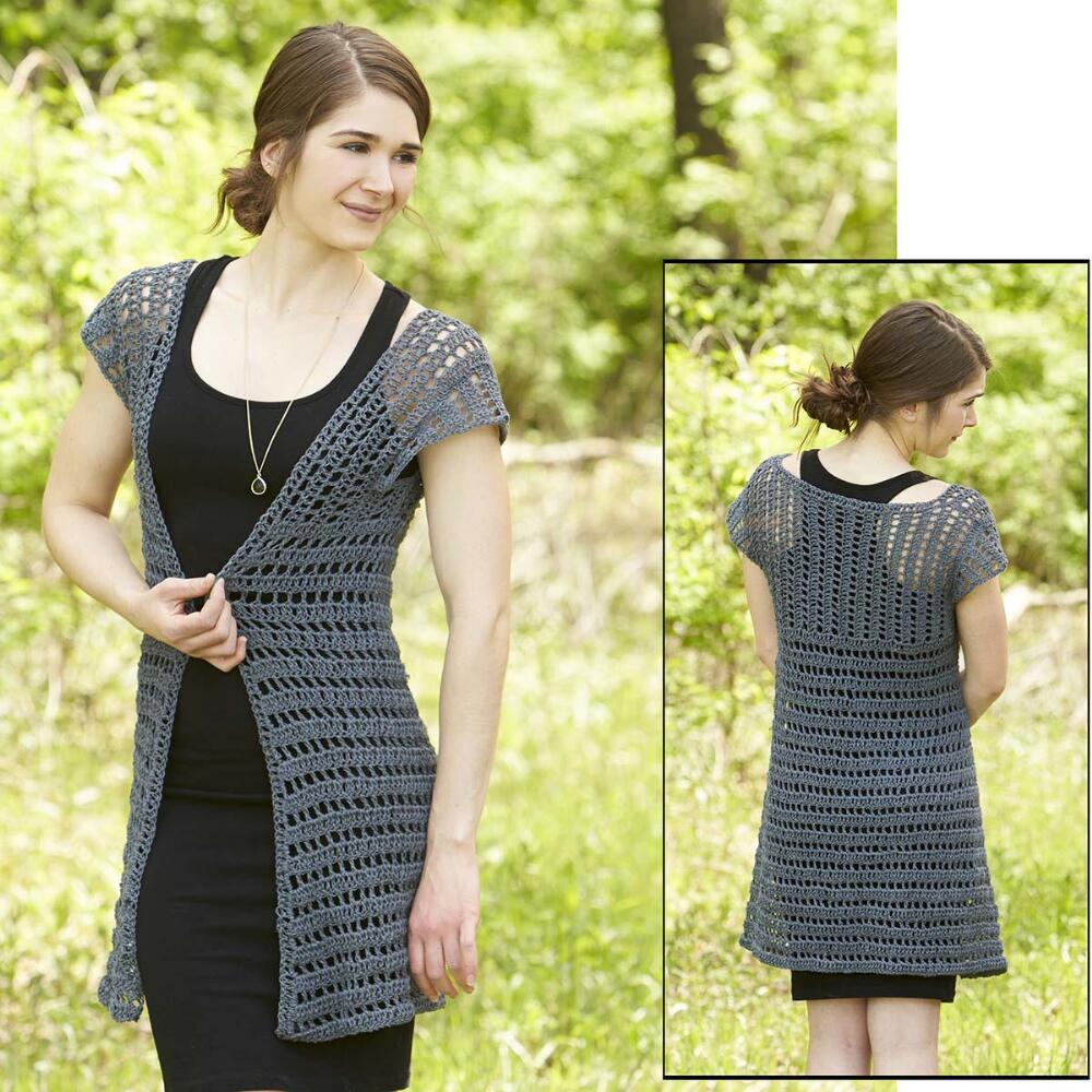 Crochet Free Shadow Swing Cardigan