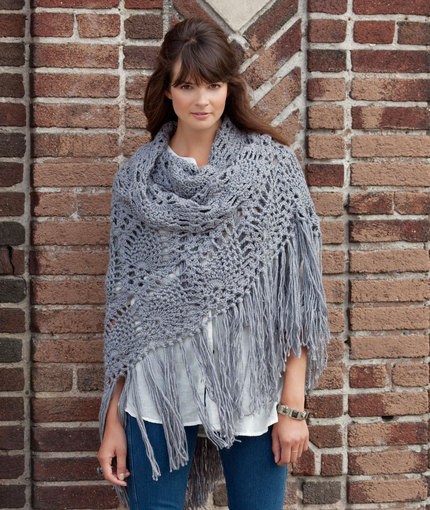 Crochet Lace Sidewalk Shawl