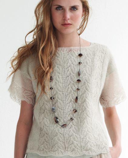 Lace knit top - free pattern