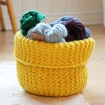 Free knit basket pattern