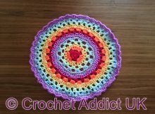 Free Crochet Rainbow Mandala Pattern