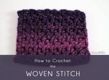 Woven Stitch Crochet Tutorial