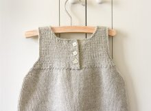Clean and Simple Knit Baby Dress