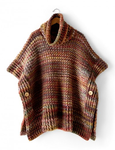 Crochet this Gorgeously Warm Topper for Fall