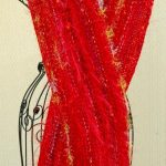 Lady in Red Fancy Knit Scarf Pattern