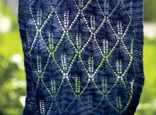 Knit Candle Flame Shawl