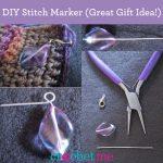 crochet stitch marker tutorial