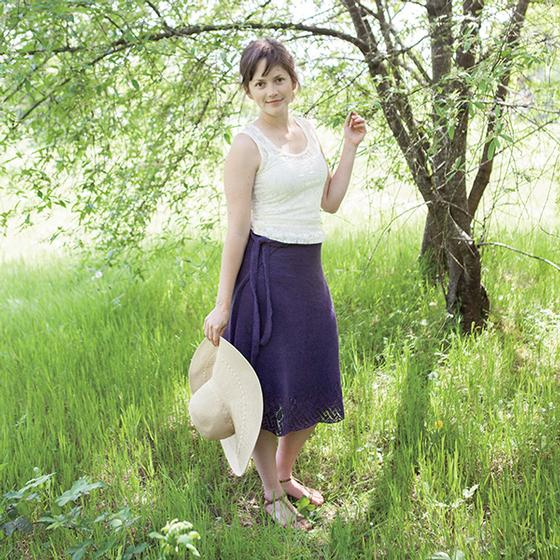 Knit Wrap Around Skirt