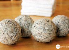 Re-purpose old wool yarn into dryer balls